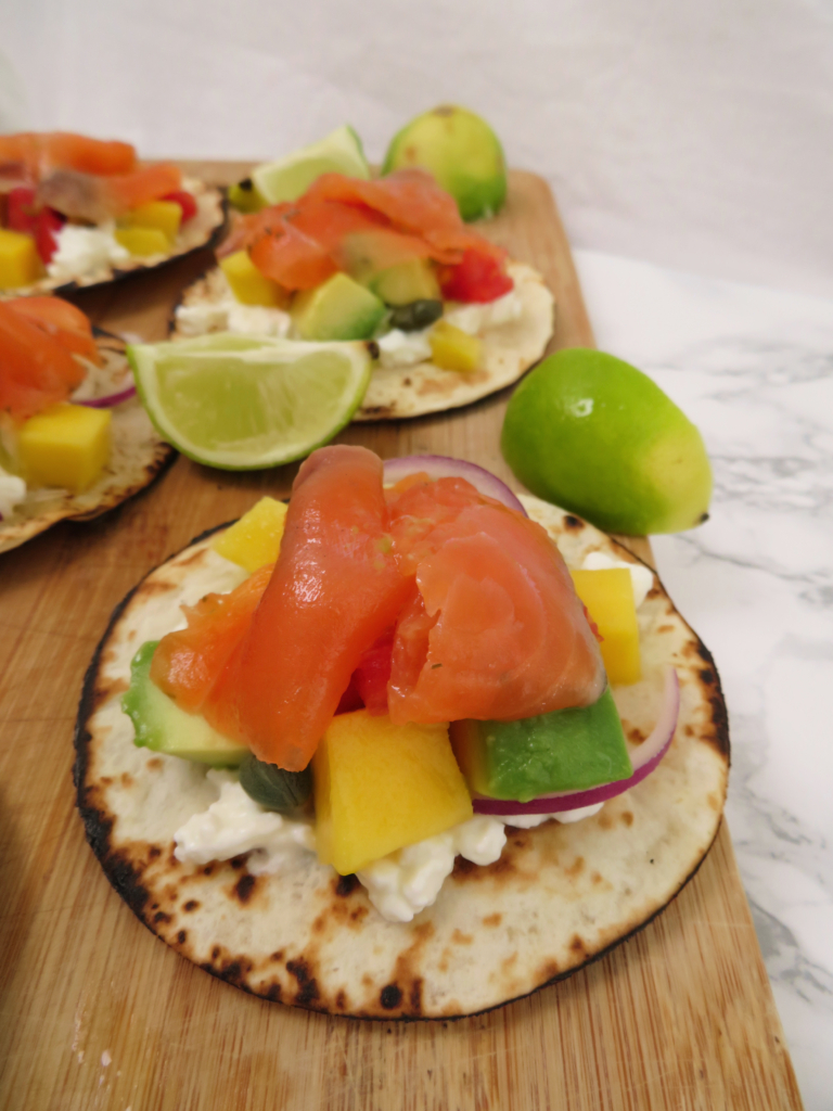 Salmon Tacos with Mango - quick lunch