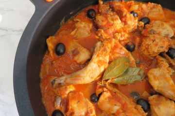rabbit stew with black olives