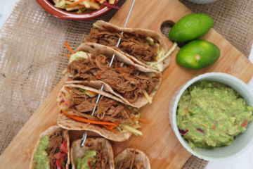 slow cooked pulled turkey tacos