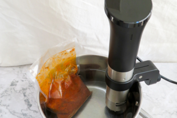 anova precision cooker cooking some pulled turkey sous vide