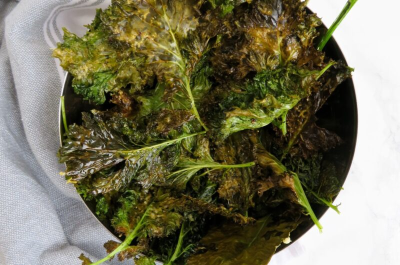 Easy kale chips with parmesan
