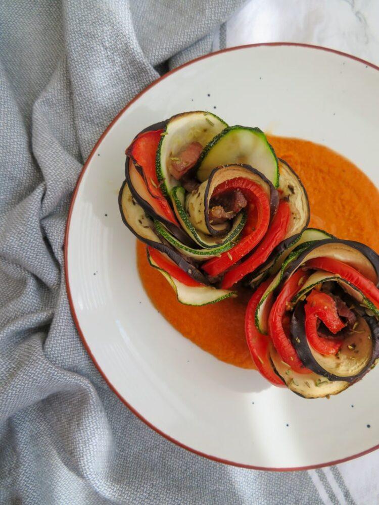 easy vegetable roses