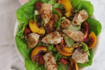 grilled nectarine and bonito salad
